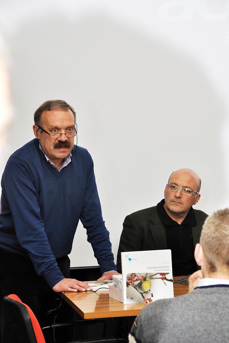 Lucio Bordignon con il Presidente del Parco Alta Valsesia, architetto Orazio Pandolfo. (Foto: Ruben Andreotti)