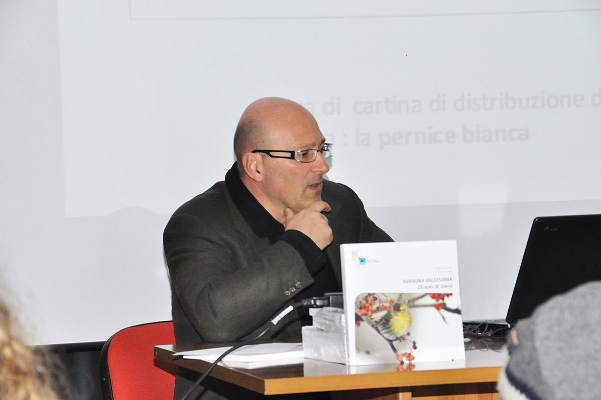 Lucio Bordignon illustra la proiezione. (Foto: Ruben Andreotti)